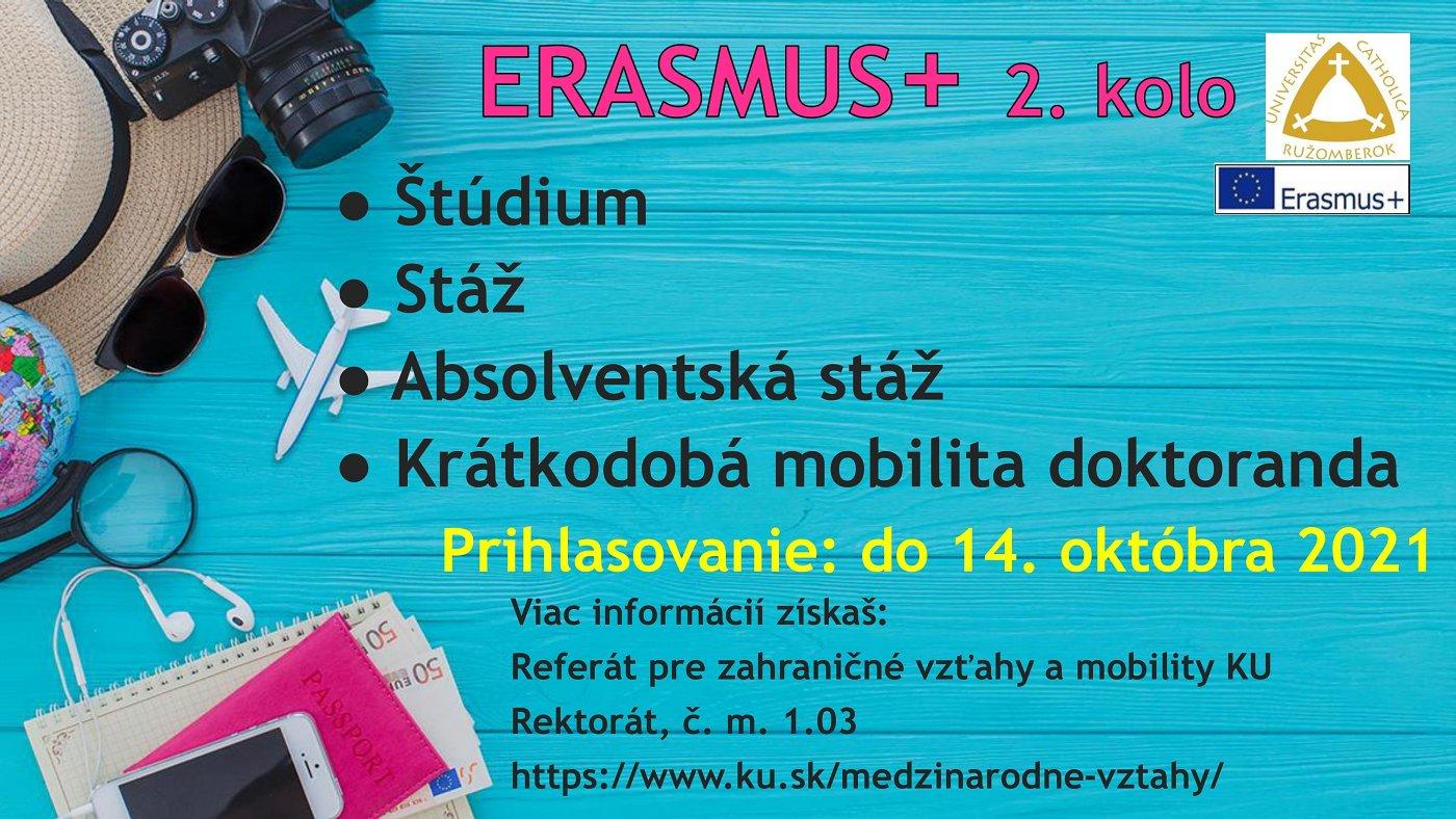Výzva na prihlasovanie: mobilita študenta Erasmus+ KA 131 2021/2022