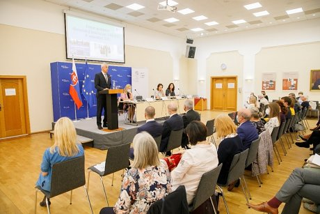 Príhovor ministra zahraničných vecí a európskych záležitostí SR Ivana Korčoka (foto: Mária Kozová)