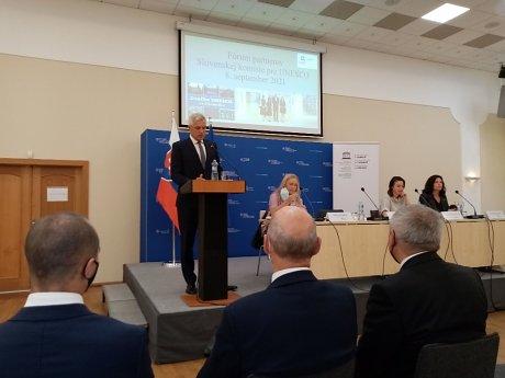 Účastníci podujatia Fórum partnerov Slovenskej komisie pre UNESCO 2021