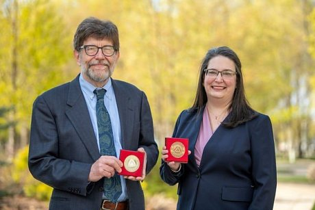 Catholic University in Ružomberok confers 20th Anniversary Medals on McAdams and Caro
