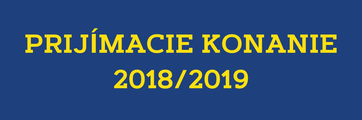 prijimacie konanie 2017 2018