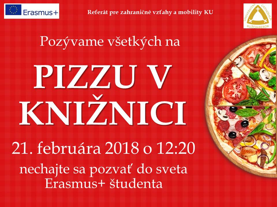 pizza v kniznici